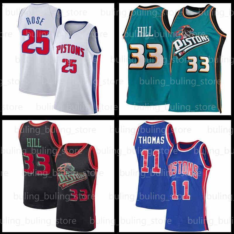 Grant 33 Hill Basketball Jersey Derrick 25 Rose Dennis 10 91 Rodman Bull 23 Michaell DetroitPistonesChicagoIsiah 11 Thomas 01