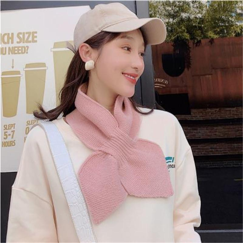 Il nuovo cancello Han Guodong Knitting Wool Collar Soft Sovra Solta Sciarpa Bowknot Sciarpa femminile Inverno Cross Calda sciarpa cm101