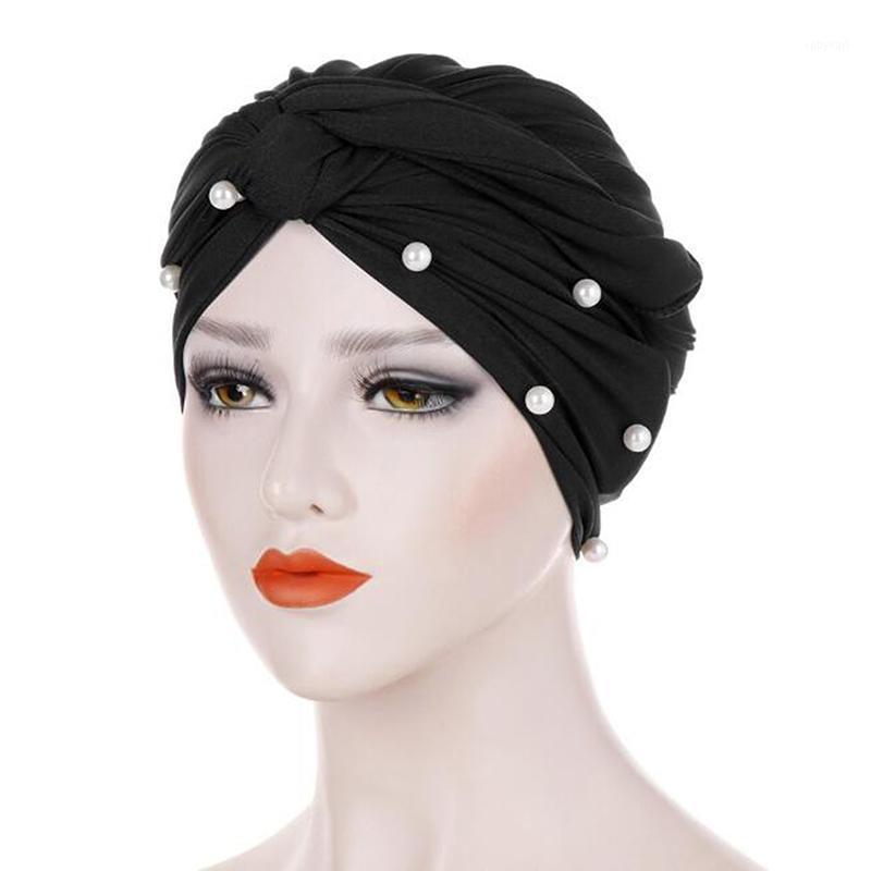 Cappello musulmano Diamante con borgo Turban Donne Long Testa Sciarpa Founterwarf Headwrap Donne Ladies Bandanas Turbante1
