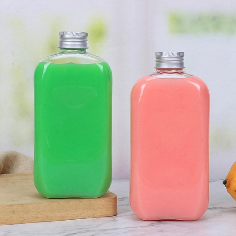Новые Оптовые Одноразовые ПЭТ 400 мл Простая прозрачная Уплотнительная Пластиковая Бутылка Фруктовый Сок Молочный Чай Бутылка для напитков