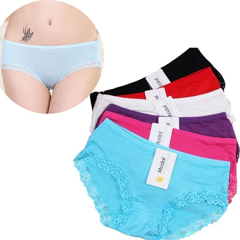 Sale3PC / Lotwomen Sous-vêtements Modal Femme Mode Femmes Slips Sous-vêtements de la fillettes