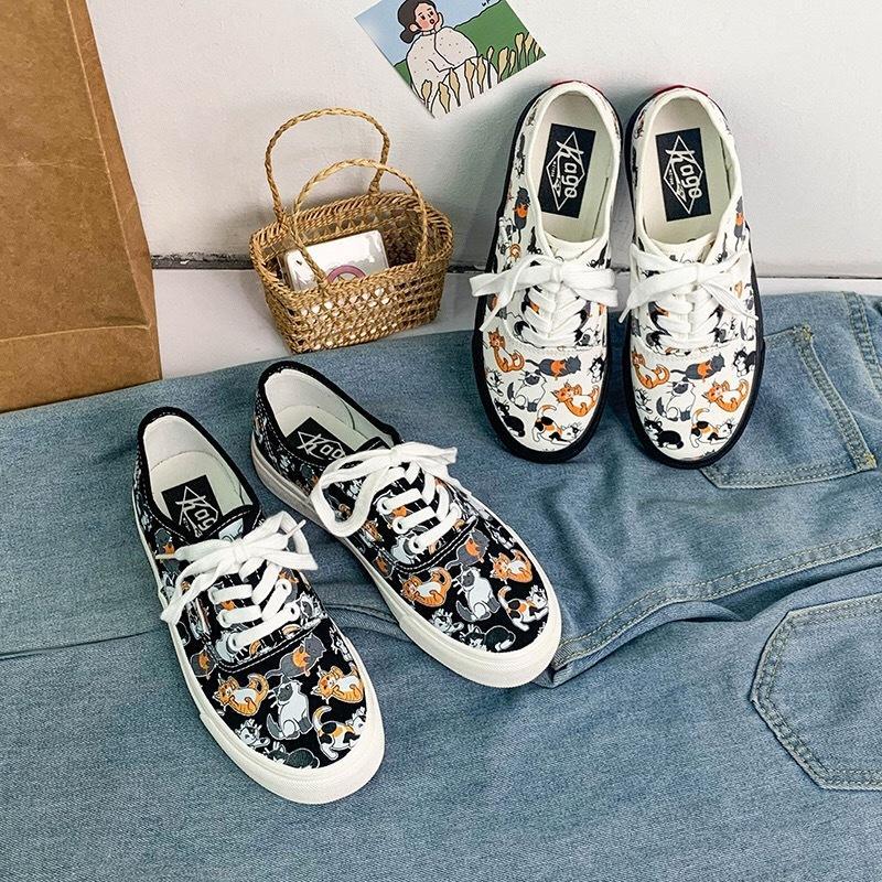 المرأة vulcanize أحذية النساء الأحذية تنفس مريحة الطباعة لطيف الشقق الأزياء الاتجاه الرجعية عدم الانزلاق أحذية النساء أحذية رياضية C1120