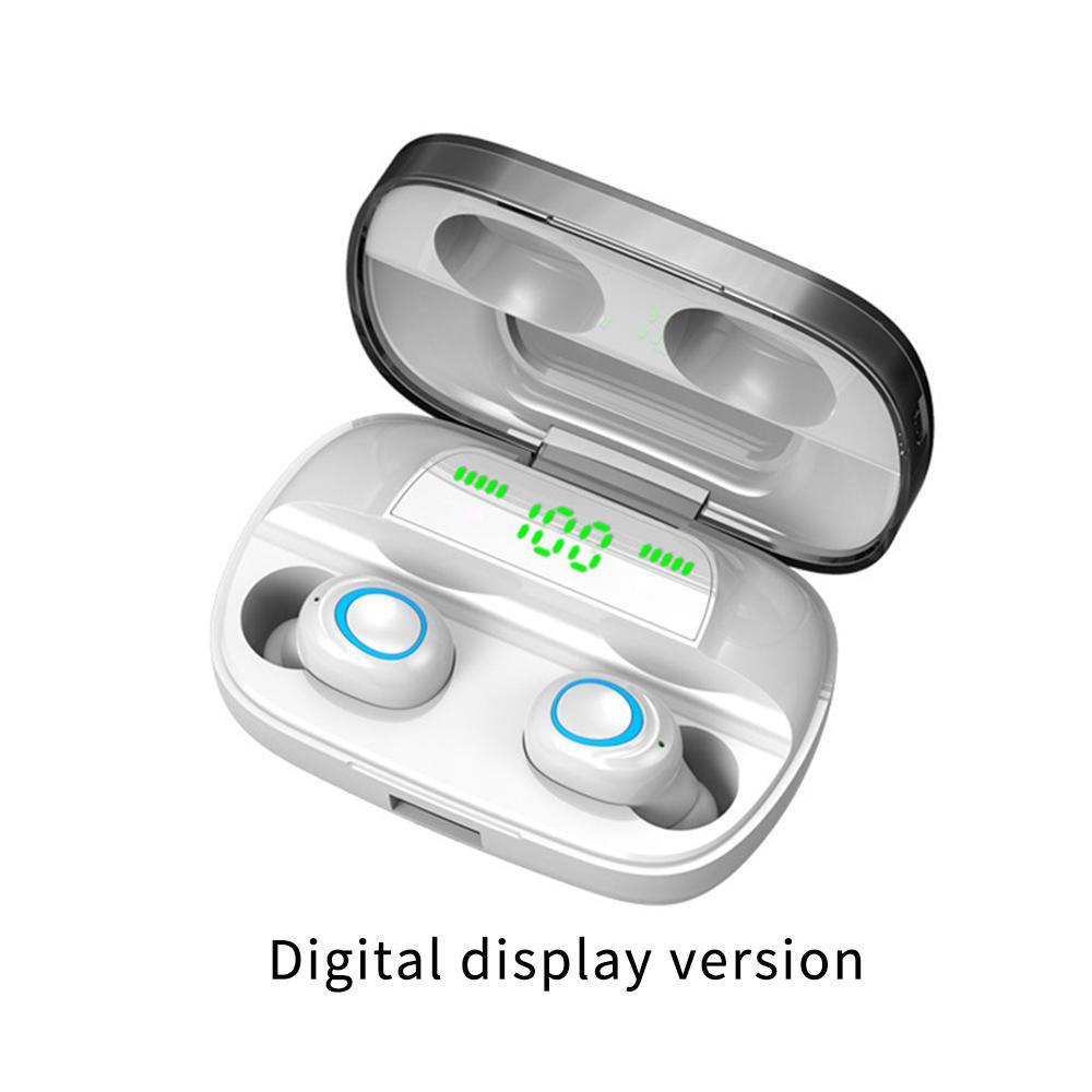 S11 TWS 5.0 Bluetooth Kulaklıklar Kulaklık Parmak İzi Dokunmatik 9D Oyun Kulaklık Ters Şarj Kablosuz