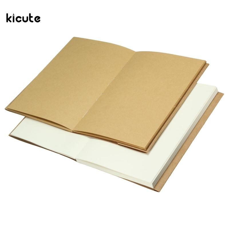 Vintage 32K Blank Kraft Notepad Notepad Retro Kraft Paper Diary Carnet Sketchbook pour Paiting Dessin Dessin Journal Cadeaux