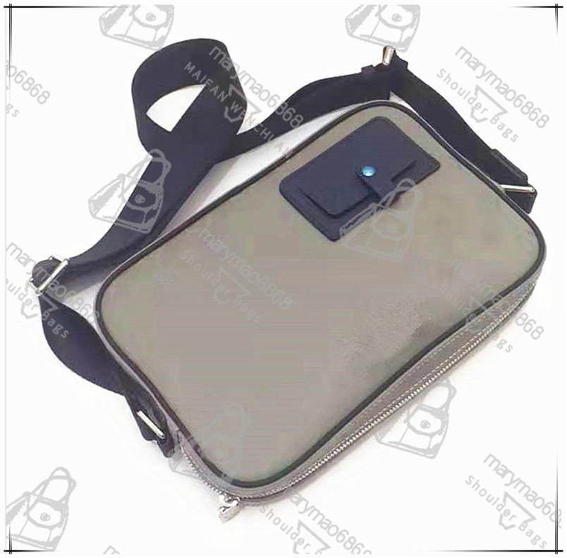 Classic Grey Menssenger Bag Bolsa de cuero Hombres Moda Bolsas de hombro Al aire libre Alta Calidad Escolares Correo Bolsas Tamaño 28 cm Monedero de cartera