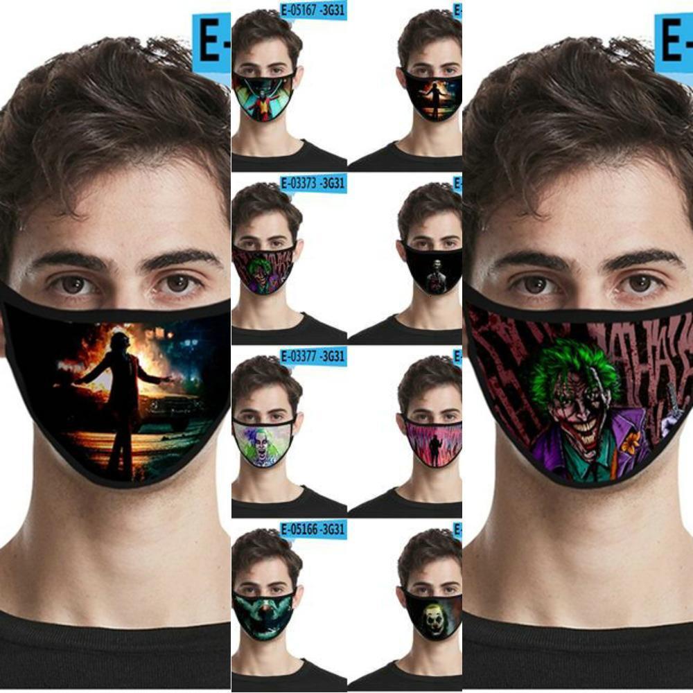 Mask Printing Joker Masken Halloween Kostüme für Designer YKCC Herbst 3D Cosplay Gesicht Ojxoj gedruckt SMWJI