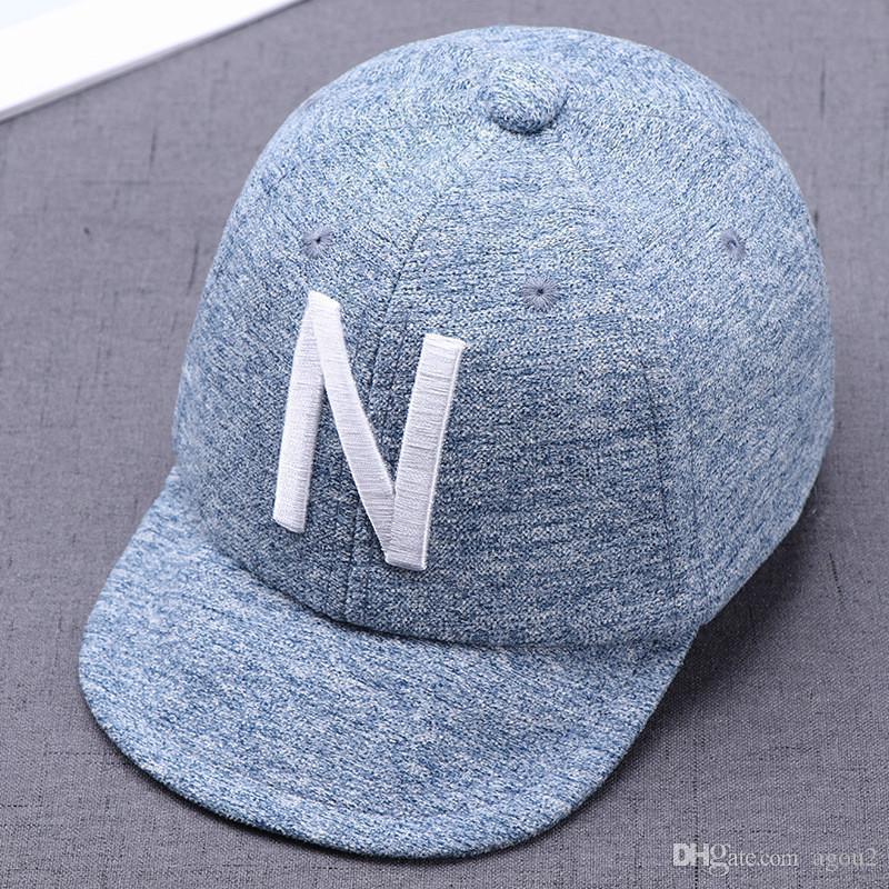 Shade 1 шт. Горячая мода слово бейсболка кепка корейский стиль детская шляпа вышитая буквами младенца casquette sunbonnet