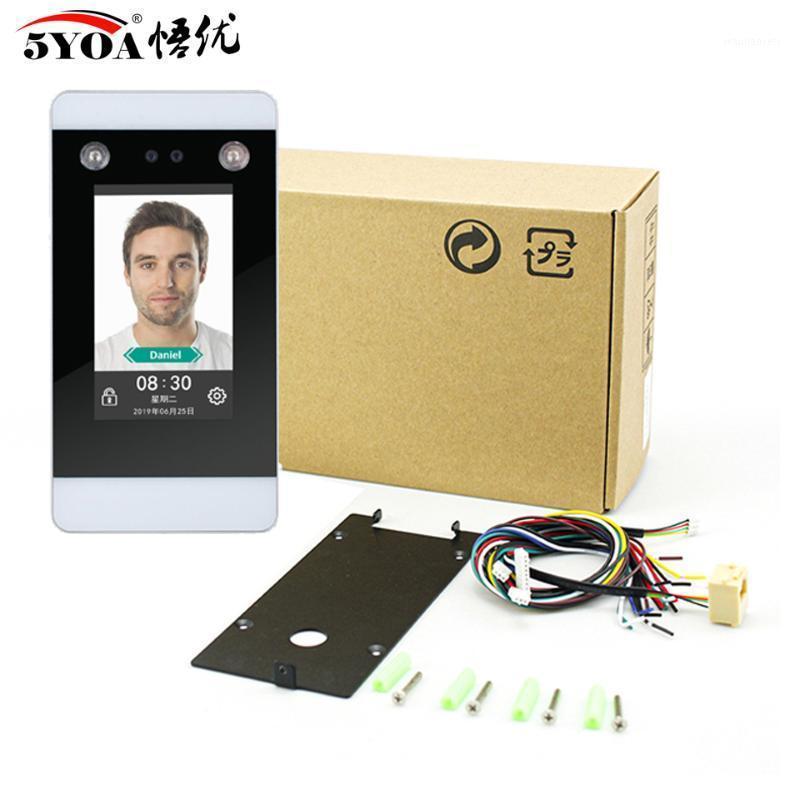 Sistema de Controle de Acesso de Reconhecimento Relógio Dinâmico WiFi TCP IP Dispositivo de IP 4,3 polegadas Touch Screen Facial Ponch Card HD Camera Participação1