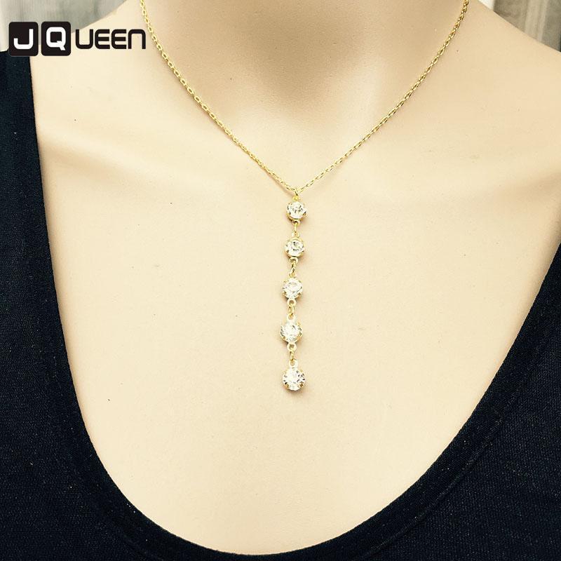 2020 Nouvelle Arrivée Fashion Dame Strass Pendentif Colliers Accessoires Bijoux Trendy Beauté Beauté Long Link Link Chian
