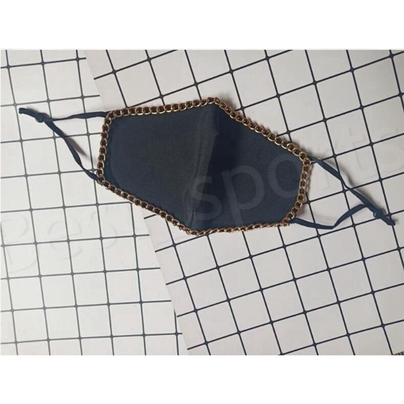 Bling Bling Pearl Gesichtsmaske Mode Metallkette Wiederverwendbare Gesicht Mundabdeckung Erwachsene Nachtclub Designer Maske YYA567