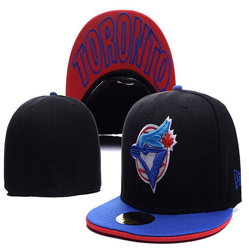 2020 Uomo Blue Jays Head Flat Flat Brim Ricamato Team Logo Toronto fan Cappelli da baseball Cappelli da baseball Full Chiuso Cap Uomo Donna