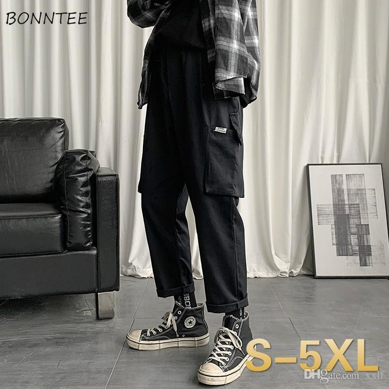 Männer Hosen Multi Taschen Knöchellangen Japanische Art Chic Fracht Hosen Vintage Hip-Hop High Street Große Größe 5XL Harajuku Teen Retro