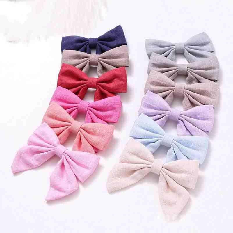 Hot trends in Europe and US Girls hairpin Headdress Cotton and linen cloth Swallowtail butterfly Hairpin Children hairpin monochrome FY4348