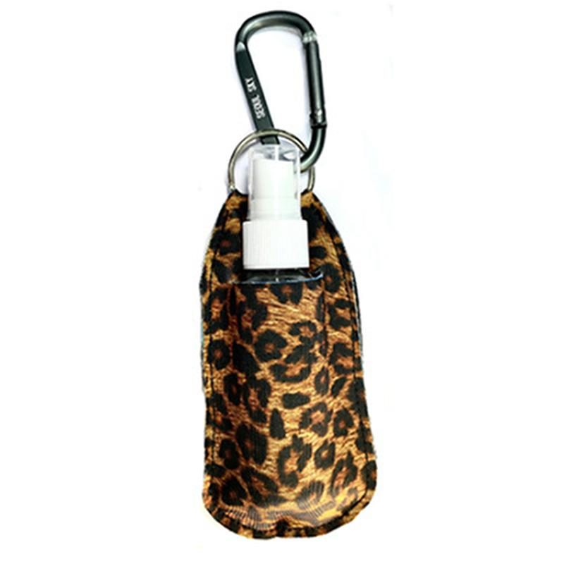 Fashion Neoprene Hand Sanitizer Bottle Holder Keychain 50ml Spray Bottle Carabiner Portable disinfectant Holder Keychain IIA904