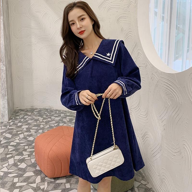Hayblst бренд женщины платье 2020 осенние платья для женщин с длинными рукавами плюс размер 4xl одежда Kawaii элегантный японский стиль одежды