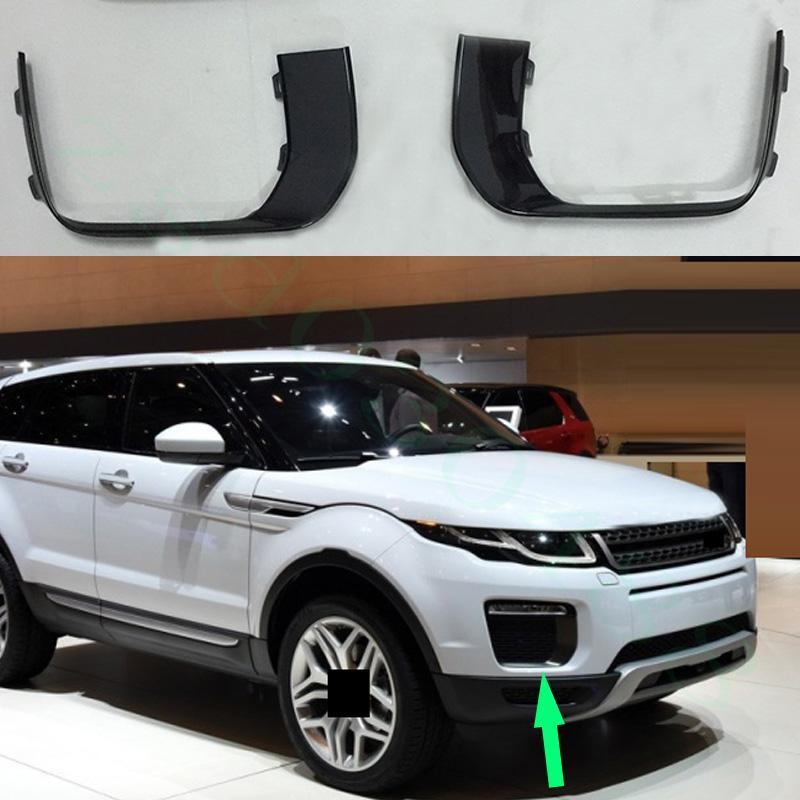 غادر سيارة الجانب الأيمن الجانب الأمامي الضباب ضوء أسود رمادي غطاء الإطار ل Land Rover Range Rover Evoque 2016-2017