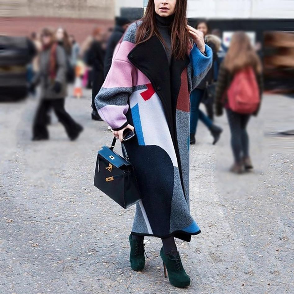 TKI0 Bahar Sonbahar Rahat Siper Kadınlar için Zarif Artı Boyutu Uzun Ceket Göğüslü İnce Rüzgarlık Giyim Çift Paltolar