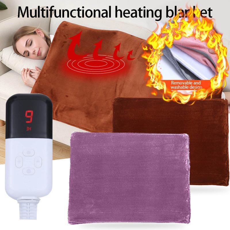 Cobertores de calor rápido único tamanho não-tecida tecido elétrico aquecido cobertor térmico lavável aquecimento de inverno lance inferior 220v eu plug