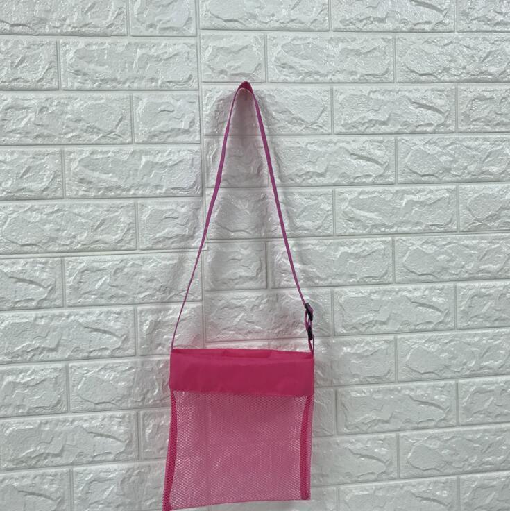 Kids Beach Mesh Bag Shell Storage Net Bag Adjustable Straps Tote Toy Mesh Outdoor Handbag Folding Baby Child Beach Storage Bags KKA359