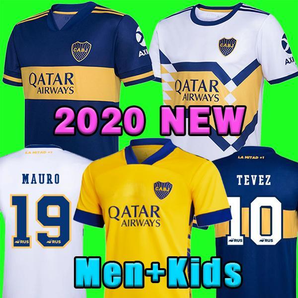2020 2021 Boca Juniors Soccer Jersey Home Away Maradona Gago Osvaldo Carlitos Pérez de Rossi Tevez Pavon Jrs Hombres Camisa de fútbol para niños