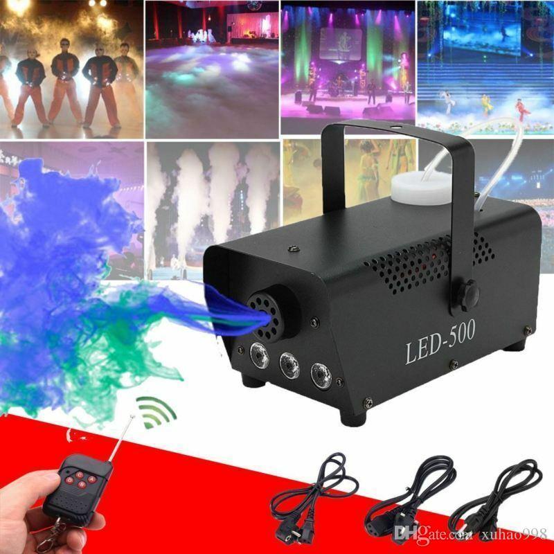 Máquina de niebla de humo 500W RGB MUTI COLOR LED DJ FIGHT STENTE LIGHT W / REMOX