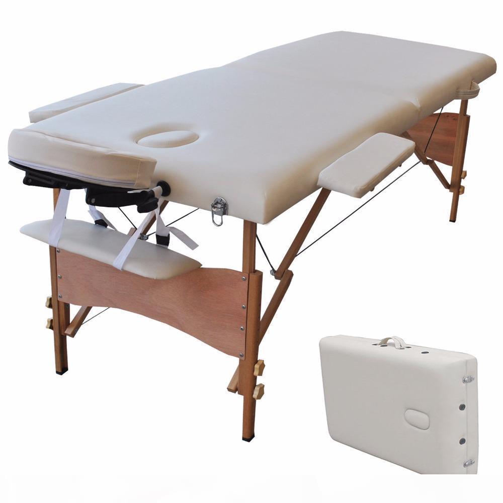 Mesa de cama portátil Mesa de cama SPA Tatuaje Cama plegable Caja 2 en 1 Longitud de 84 pulgadas de ancho de 32 pulgadas nave de EE. UU.