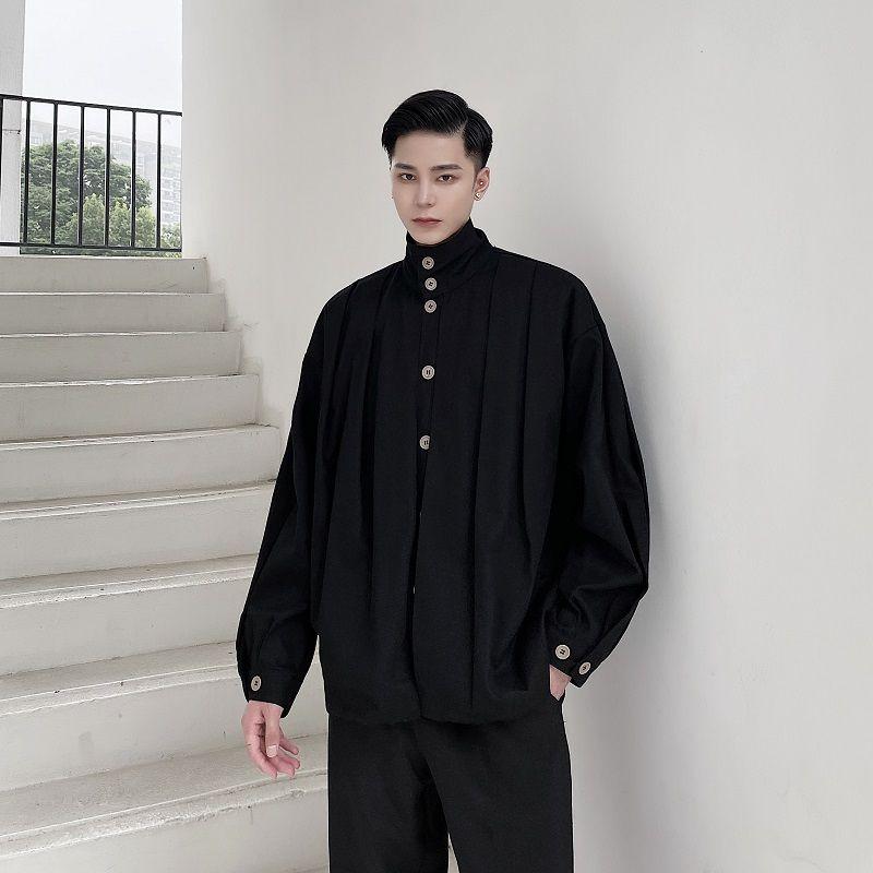 2020 turtlenecks dobráveis homens Outerwear Japão Spring Streetwear Casaco Vintage 3ooyd