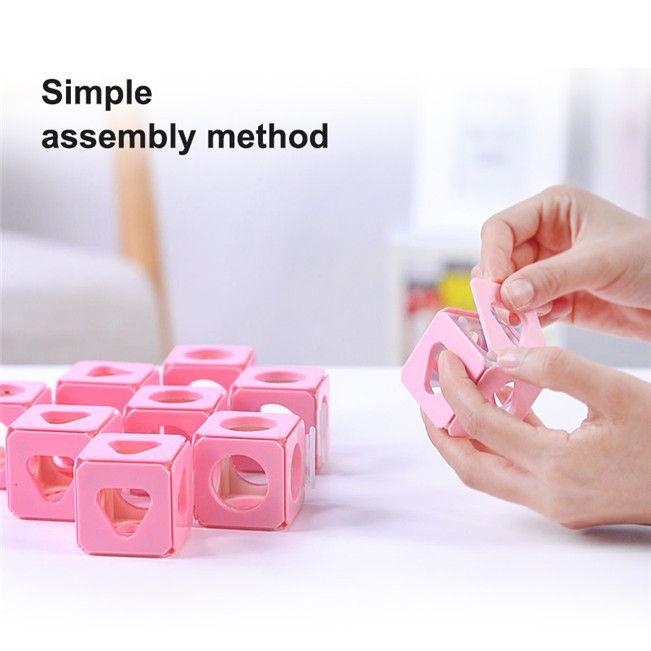 Dreidimensionale Denkkörper-Puzzle-Spaß-Gehirn-Spiel-Montage-Grafik Logische Denk-Training-Montage Puzzle-Würfelspielzeug