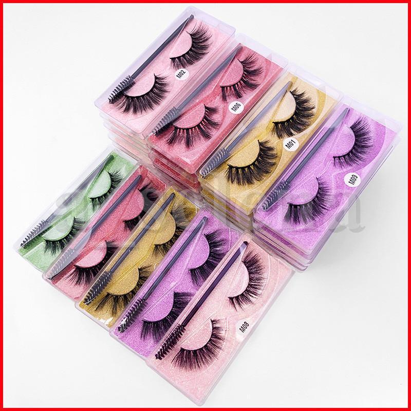 3D falsche Wimpern Großhandel Faux Nerz Haar Wimpern Falsche Wimpern Mix Styles Gefälschte Mink Wimpern Erweiterung Make-up-Werkzeug