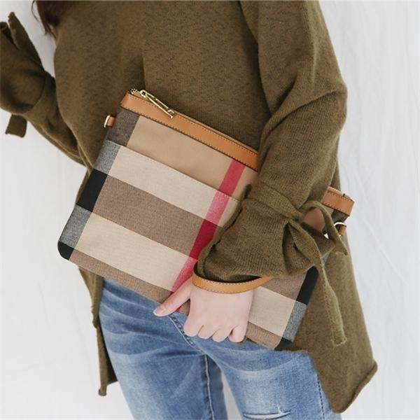 New Clutch Bags Canvas Desigener Brand Day Cluthes Cow Leather Hand Bag Purses Vintage Tote Q1116