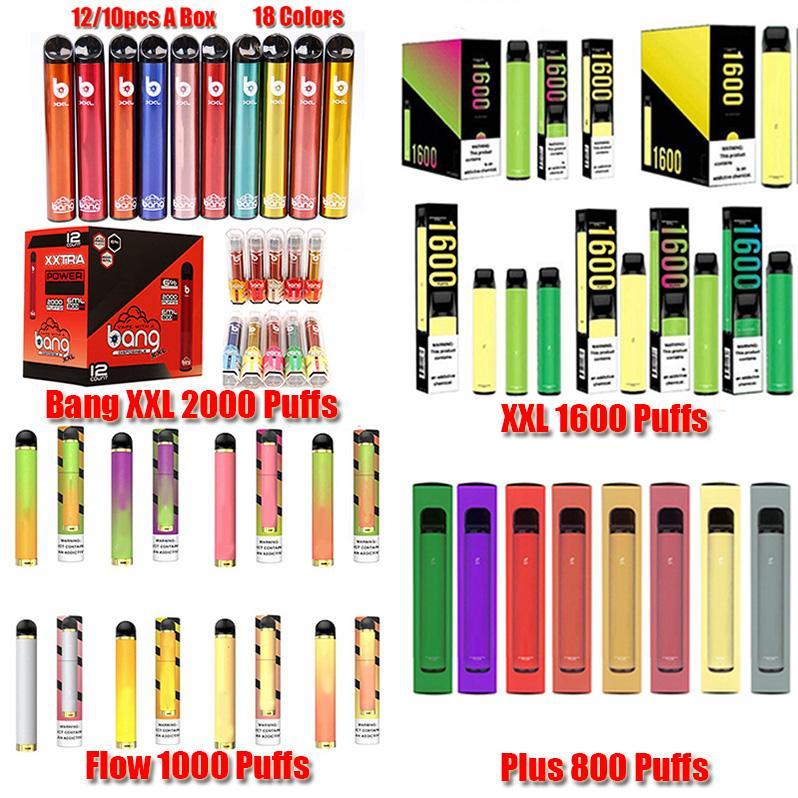 Bang XXL Puff Xtra POSH Plus XL BAR FLOW MAX PRO FLEX TWIPE Einweggerät Pod Kit 1500 Puffs Vorgefüllte VAPE Leer Stift