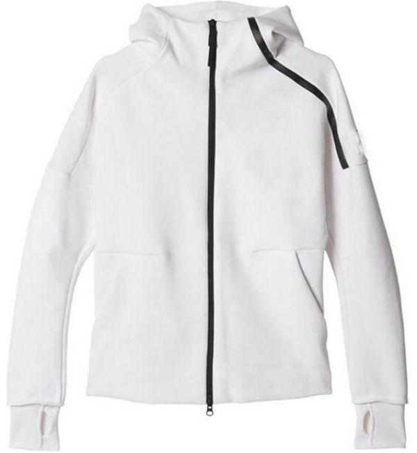 Nouveau hoody Hommes Sports Sports Black White Tracksuits Jacket à capuche Hommes / Femmes Windbreaker Zipper Sport Vêtements De Mode Jacket + Pant