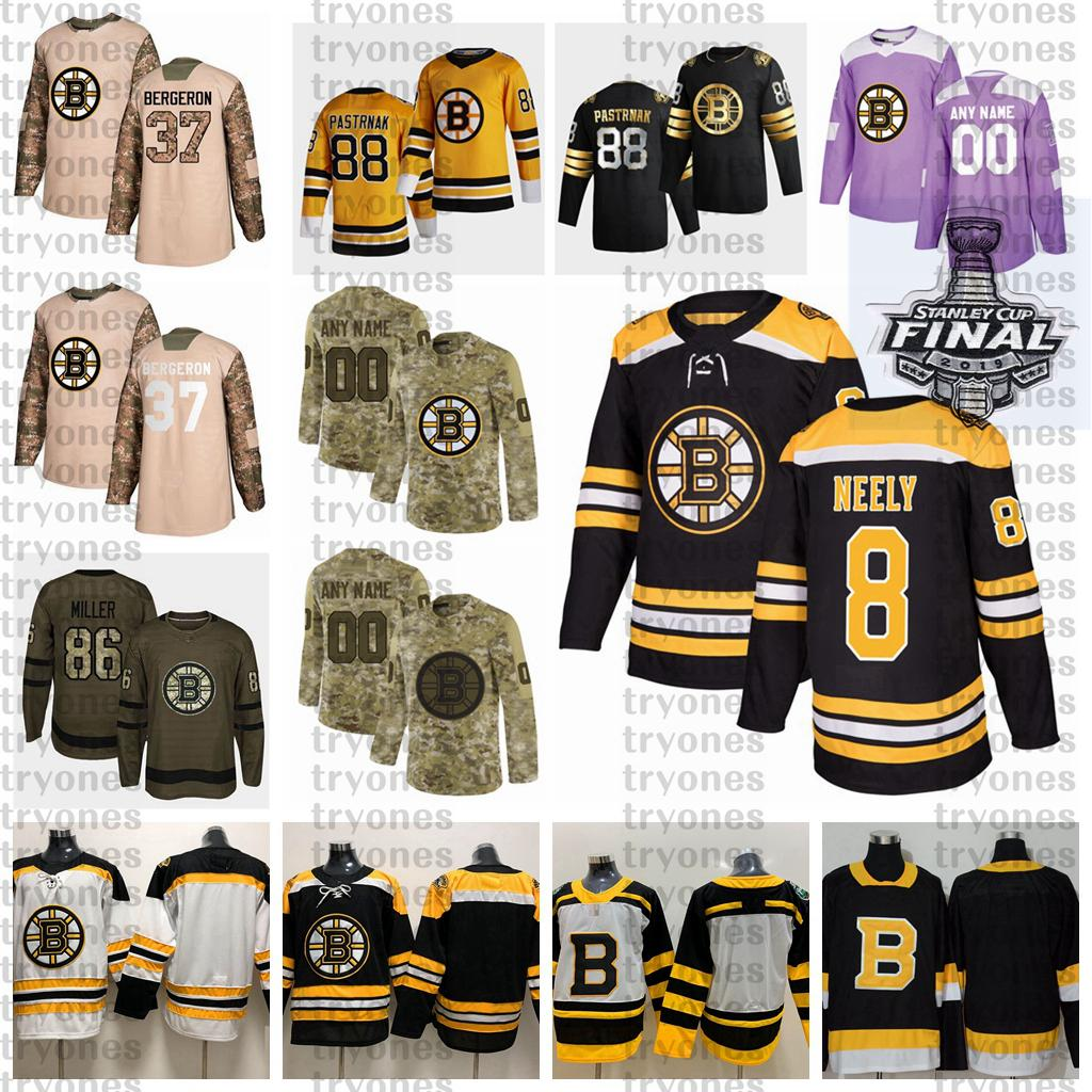 2021 Retro Retro Personalizar 8 Cam Neely Boston Bruins Hockey Jersey Golden Edition Camo Veteranos Día Fights Cancer Purple Custom Shirt
