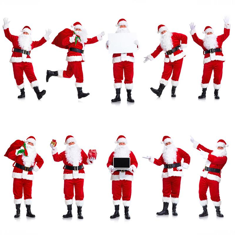 European and American Santa Claus costume Cosplay costume is unisex