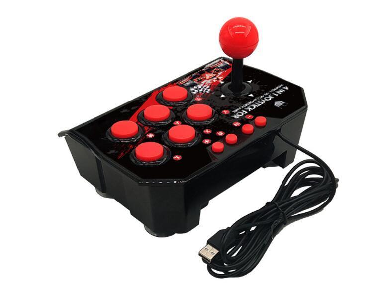 4-en-1 de la estación de arcade retro con cable USB Rocker Fighting palillo del juego palanca de mando para cambiar de juego de consola vs x12 x40