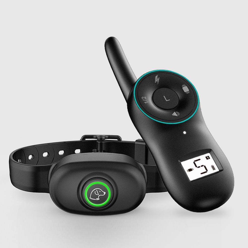 Coleira do colar de treinamento do cão com bipe de vibração Antibark IP67 impermeável recarregável colar remoto controlador