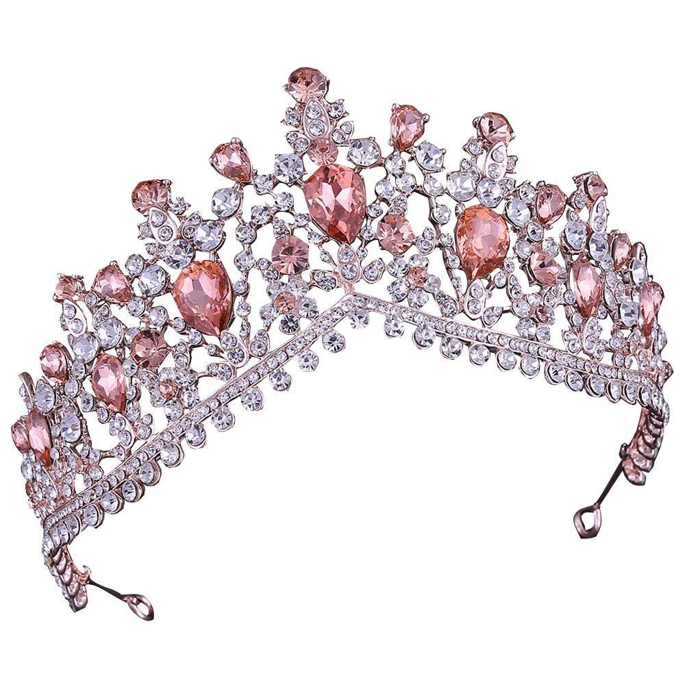 Luxus Strass Tiara Crowns Kristall Braut Haarschmuck Hochzeit Headstücke Quinceanera Pageant Prom Queen Tiara Princess Crown 145