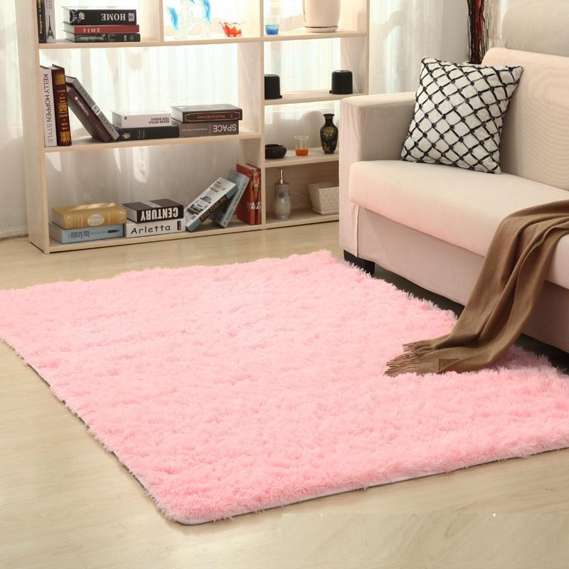 Oturma odası halı yatak odası halı modern basitlik kravat boyama peluş yumuşak başucu halılar kaymaz zemin paspaslar çok boyutlu kilim