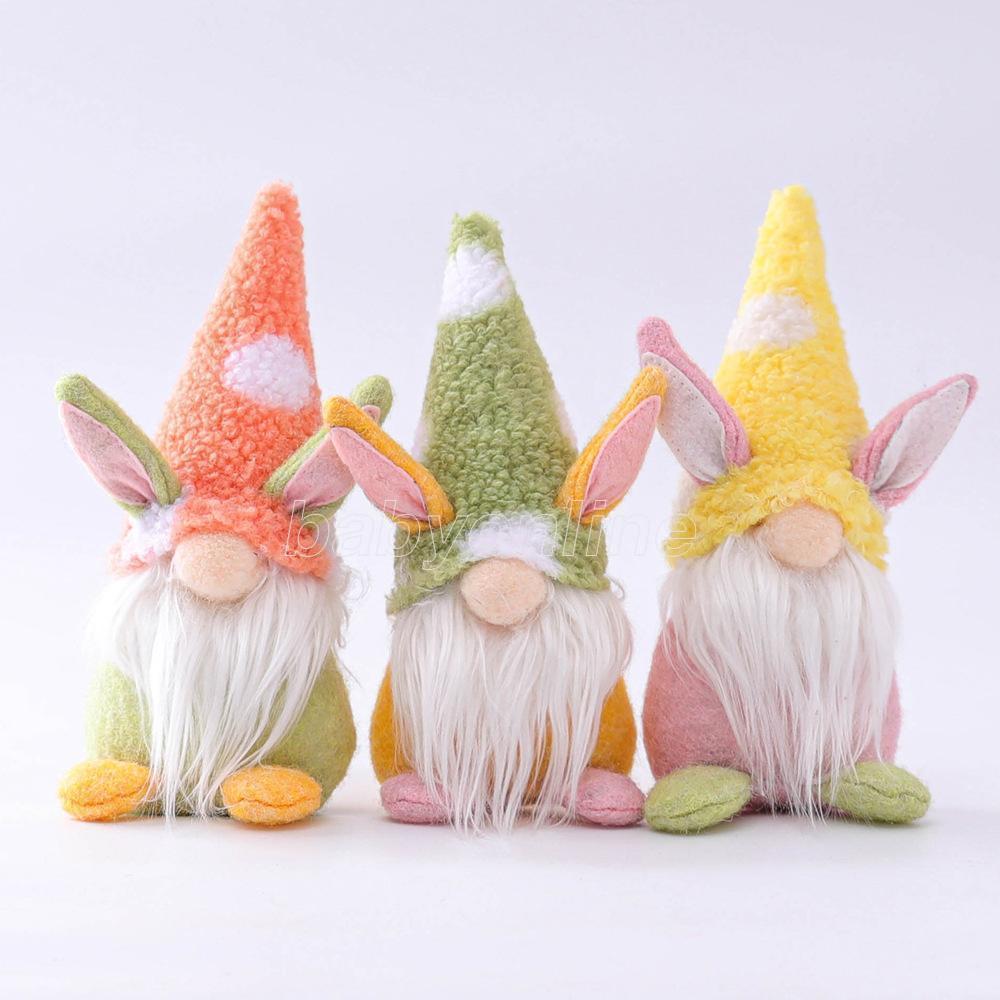 Шведский Томте кролика плюшевые игрушки пасхальный кролик гном ручной работы кукла орнаменты домашнего вечеринка дети пасхальный подарок FY7600