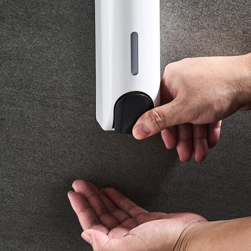 Dispensador de sabão líquido Detergente de plástico Dispensadores 350ml manual pressione manual de parede de parede