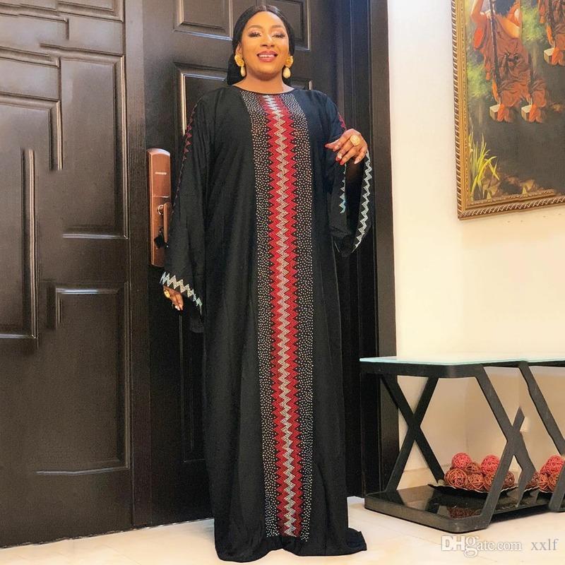 MD Muslim Kaftan Abaya Kleid Kimono Frauen Dubai Türkische Steine Islamische Kleidung Arabente Femme Afrikanische Robe Boubou Abendkleider