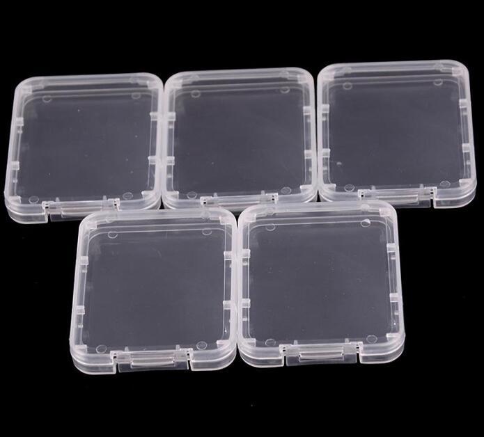 Briser Conteneur en plastique Boîte de protection Carte de carte mémoire Boîtes de carte de mémoire CF Tool de carte Plastique Stockage transparent pour la cire Herbe Sèche BWE3206