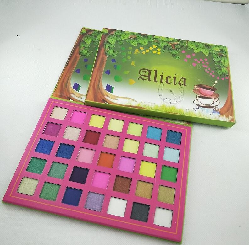 Beauty brand makeup Eyeshadow Palette el envío de ojos en polvo gama de colores mate de la nueva ALICIA 35colors.