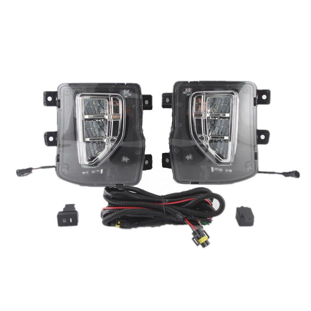 Araba LED Gündüz Çalışan Işıkları DRL Kılıf Chevrolet Silverado 1500 2016-2018, 6000 K LED Ön Tampon Sis Lambası, 1: 1 Yedek