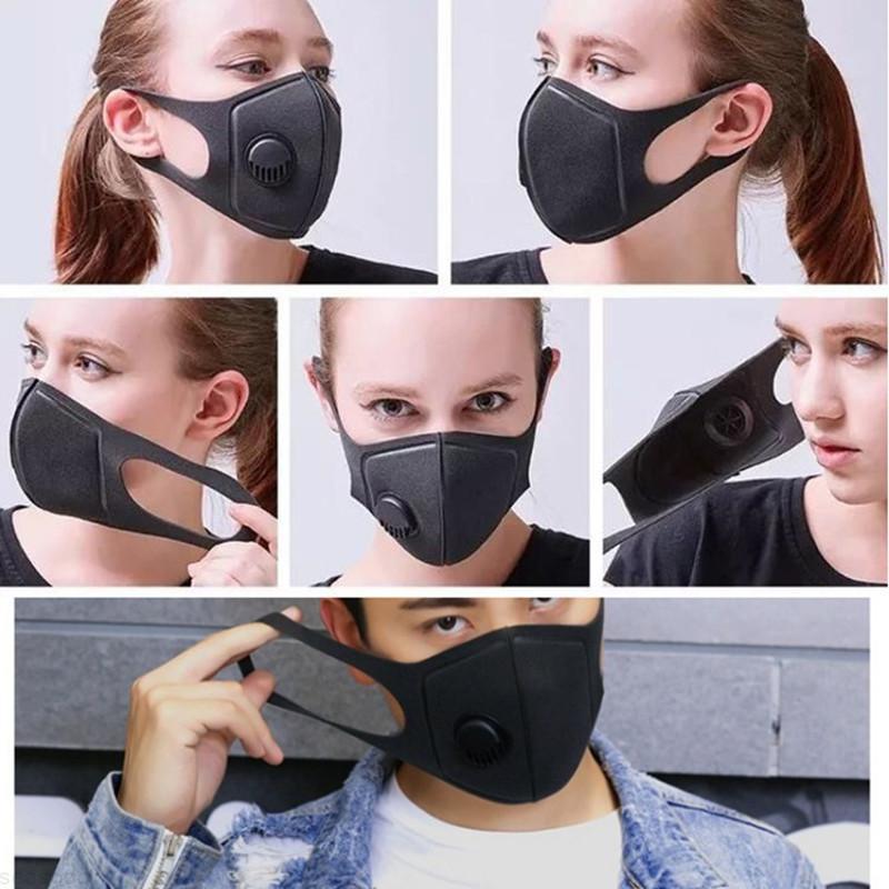 Anti-Haze Respirator Valve Mask Washable High Density Dust-Proof Cloth Sponge