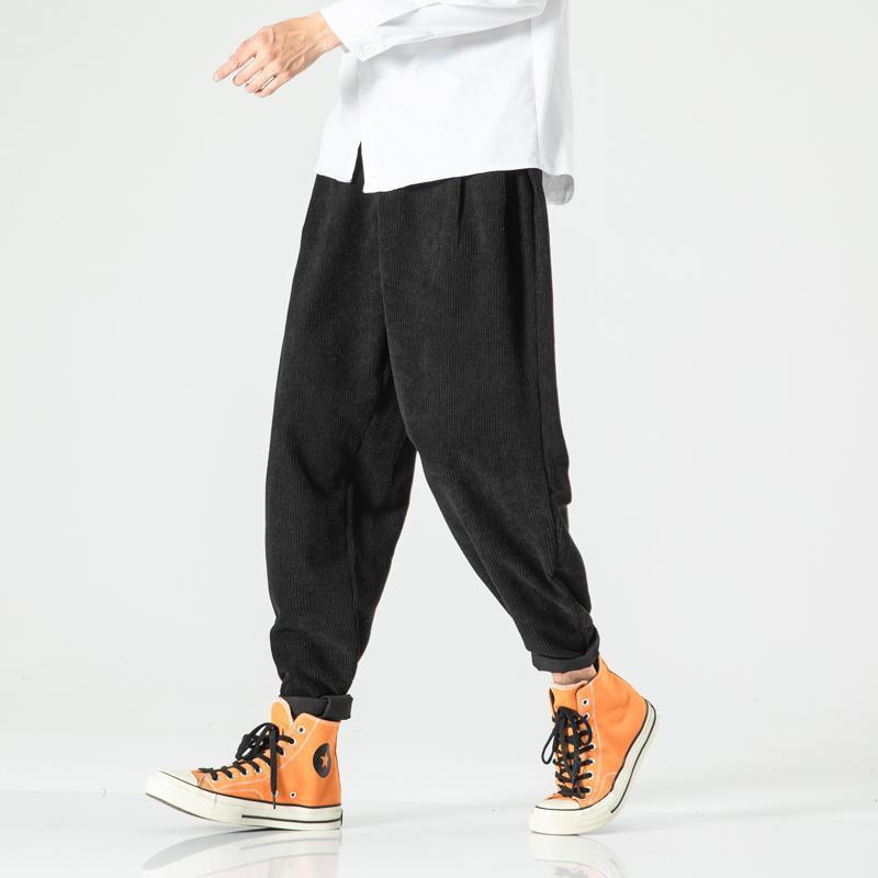 Plus Size Men's Harem Calças Juntos Homens 2020 Outono Primavera Hip Hop Japonês Streetwear Sweetpants Calças Juntos Masculino XXXXXL1