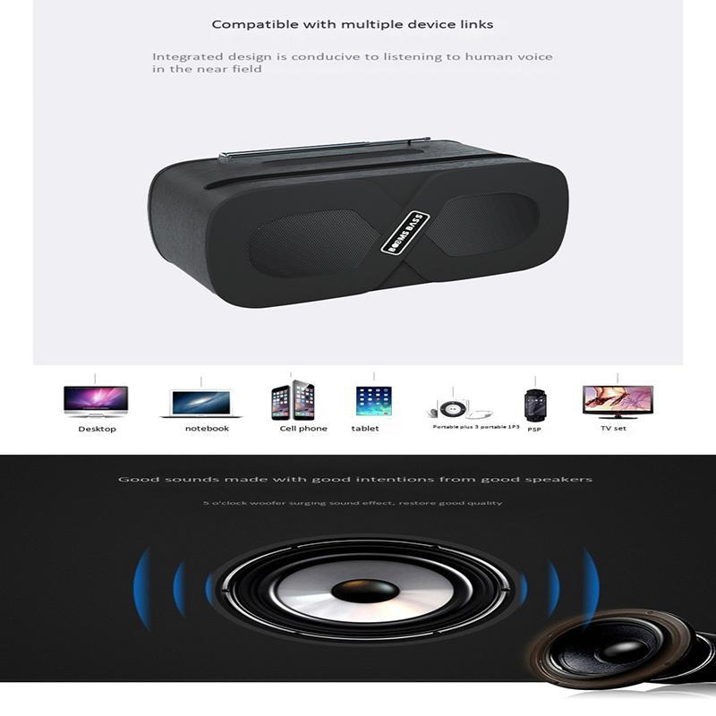 2020 طفرات شعبية Bass-L2 سماعات بلوتوث لاسلكية مع حامل الهاتف مكبرات الصوت بروتابلي للهاتف تحيط موسيقى ستيريو