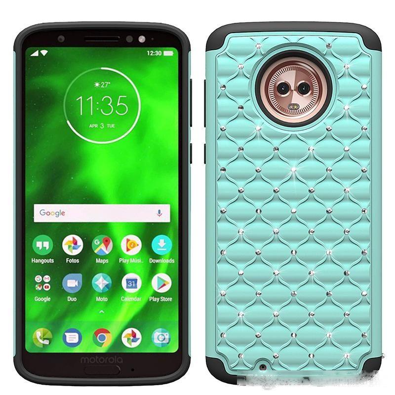 Bling Crystal Cases pour LG K40 Coolpad Legacy Metrpcs Moto G7 Power G7 Play G7 Play E6 Silicone PC TPU TPU Résistant à la saleté