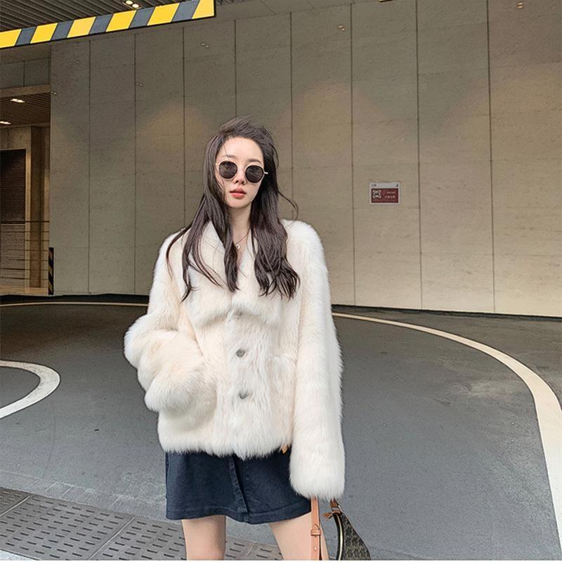 Qualidade Fu Zhien Toka Toscana Pele Uma Mulher Collar Colares Jovem Inverno Casaco Inverno 2020 Novo