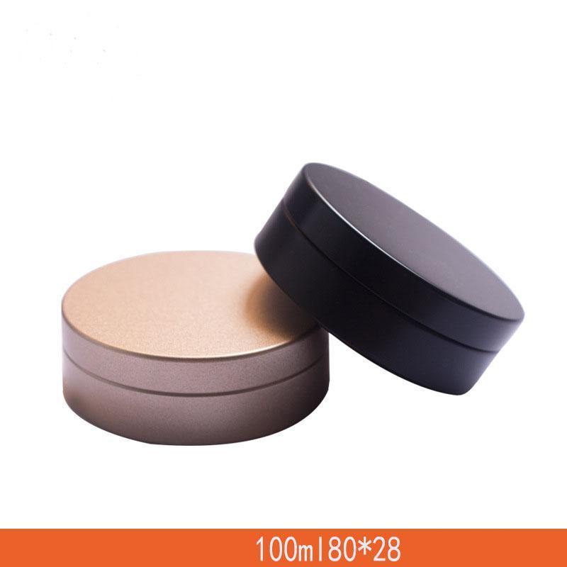 Dia 80 millimetri lattina vuota Aroma Candela Round Box Cosmetic Cream Jar auricolare Storage Box smerigliato oro 100ML Pomata imballaggio Pot